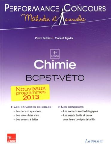 9782743015251: Chimie 1re année BCPST-Véto