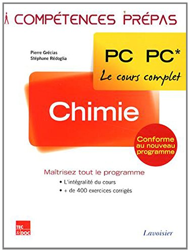 Chimie 2e année PC PC* Chimie 2e année PC PC*, Pierre Grécias; Stéphane Rédoglia, Used, 9782743015824 Livre comme neuf. Expédition en suivi postal. Brand new book. Tracking number per all orders.