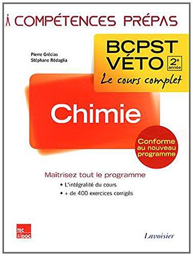 9782743015855: Chimie 2e Annee Bcpst-Veto (Collection Compétences Prepas)