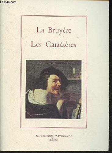 9782743302191: Les caractères (La salamandre) (French Edition)