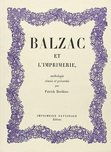 9782743303303: Balzac et l'imprimerie