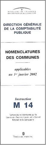 9782743304362: Nomenclatures des communes Instruction M 14. Applicables au 1er janvier 2002