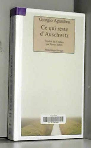 9782743604752: , Ce qui reste d'Auschwitz. L'Archive et le témoin