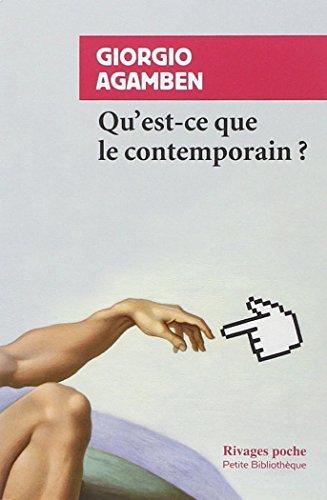 QU'EST-CE QUE LE CONTEMPORAIN ?: AGAMBEN GIORGIO