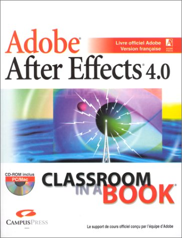 9782744007637: Adobe After Effects 4.0 (avec CD-Rom)