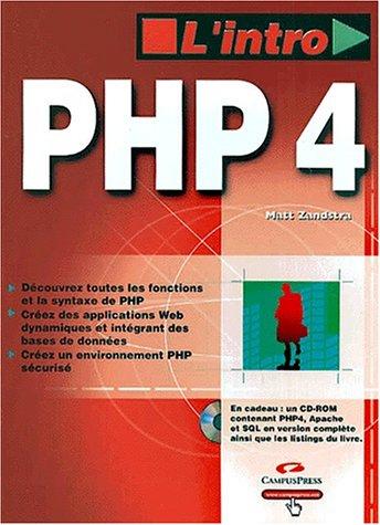 PHP 4 (avec CD-Rom) (2744009938) by Zandstra, Matt