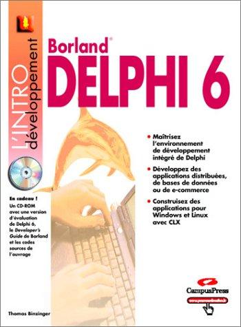9782744014833: Delphi 6 (1Cédérom) (L'intro)