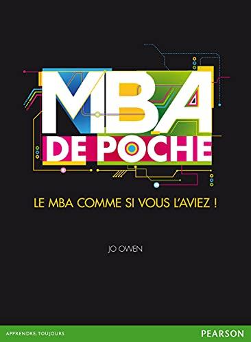 9782744065101: le MBA de poche ; le MBA comme si vous l'aviez