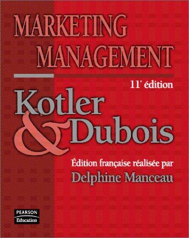 9782744070082: Marketing management, 11e �dition