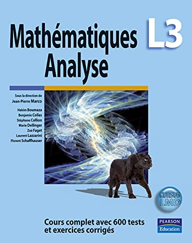 9782744073502: Math�matiques L3 : Analyse - Cours complet avec 600 tests et exercices corrig�s