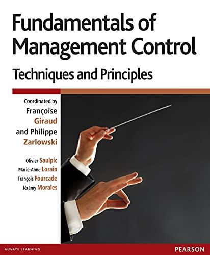 9782744075193: Fundamentals of Management Control: Techniques and principles