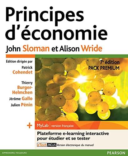 9782744076282: Principes d'économie 7e édition - Pack Premium FR : Livre en français + MyLab en français