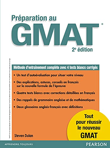 9782744076558: Pr�paration au Gmat 2e �dition : M�thode d'entra�nement compl�te avec 4 tests blancs corrig�s