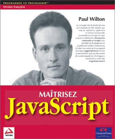 9782744090011: Maîtrisez Javascript