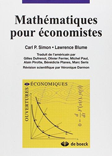9782744500046: mathematiques pour economistes