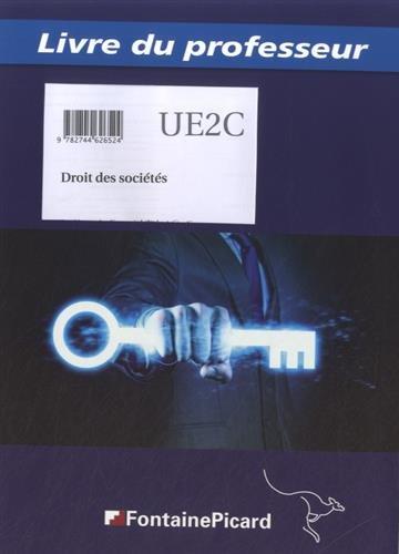 9782744626524: Droits des sociétés DCG UE2C : Livre du professeur