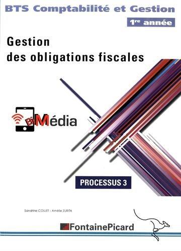 9782744627231: Gestion des obligations fiscales Processus 3 BTS comptabilité et gestion 1re année
