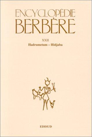9782744901270: T22 hadrumetum hidjaba (Encyclopédie Berbère)