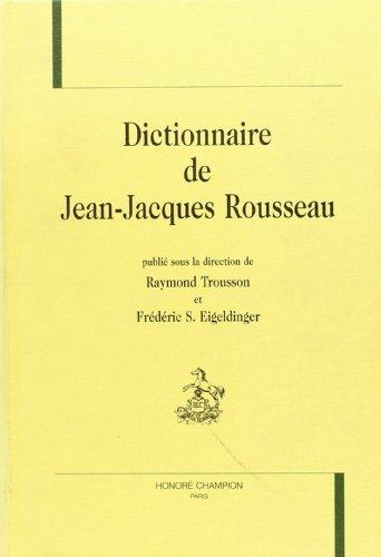 9782745305473: Dictionnaire de jean-jacques rousseau.