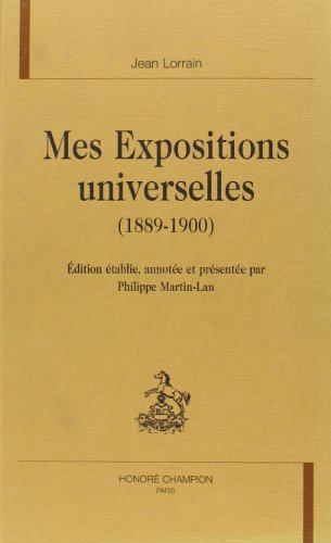 9782745306548: Mes expositions universelles (1889-1900)