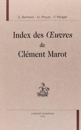 9782745306975: Index des oeuvres de clement marot.