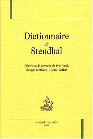 9782745308061: Dictionnaire de Stendhal