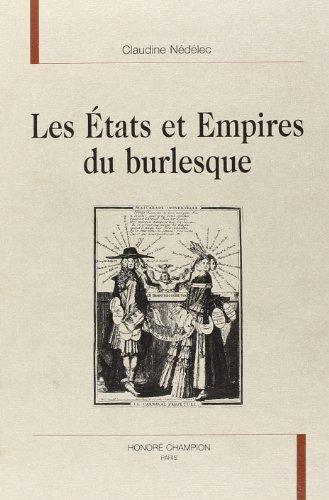 LES ETATS DES EMPIRES DU BURLESQUE: CLAUDINE NEDELEC