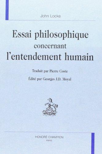 Essai philosophique concernant l'entendement humain: Locke, John