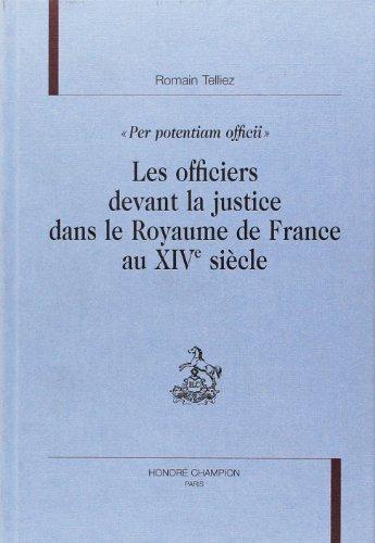 9782745311047: Les officiers devant la justice dans le royaume de France au XIVe si�cle
