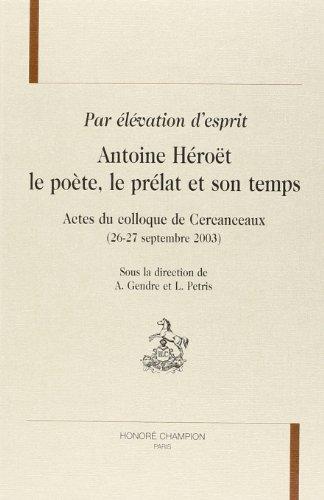 9782745313683: Par élévation d'esprit (French Edition)