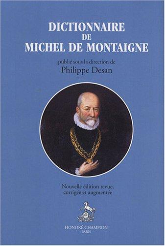 9782745316301: Dictionnaire de Michel de Montaigne