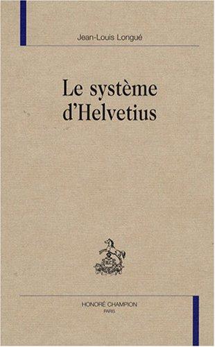 9782745316561: Le système d'Helvetius