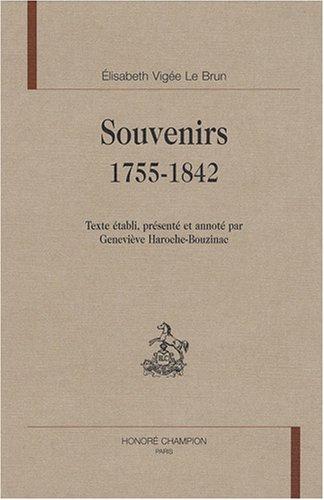 9782745316950: Souvenirs, 1755-1842