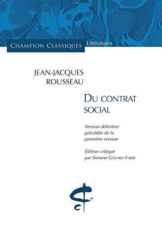 Du contrat social: Rousseau, Jean-Jacques