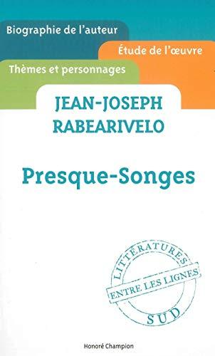 Presque-songes: Jean-joseph Rabearivelo