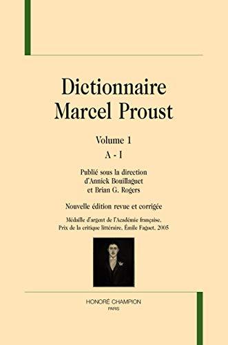 DICTIONNAIRE MARCEL PROUST 2 VOLUMES: COLLECTIF