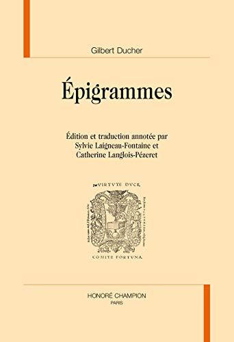 EPIGRAMMES: DUCHER GILBERT