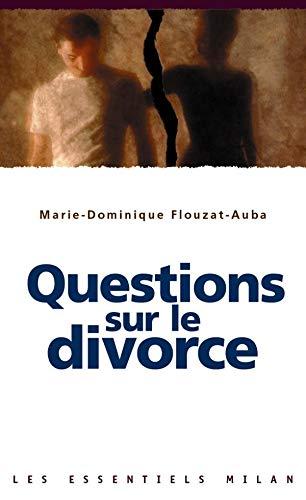 9782745908391: Les Essentiels Milan: Questions Sur Le Divorce (French Edition)