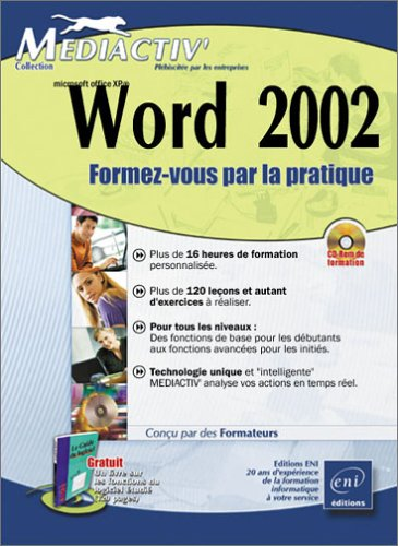 9782746016576: Word 2002 (1 manuel d'accompagnement + CD-Rom)