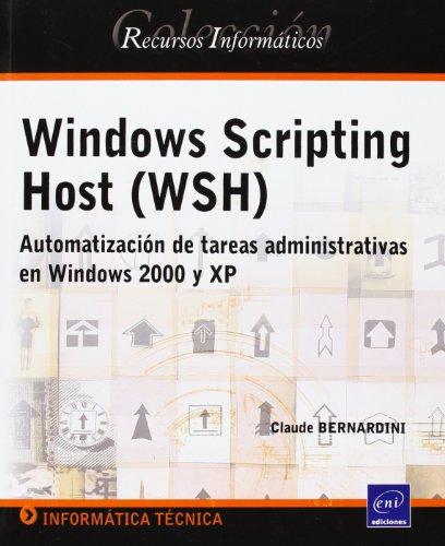 9782746027626: WINDOWS SCRIPTING HOST WSH