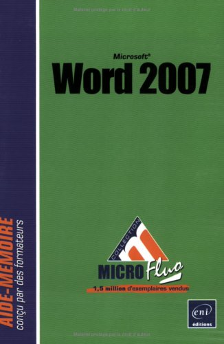 9782746035485: Word 2007 (French Edition)