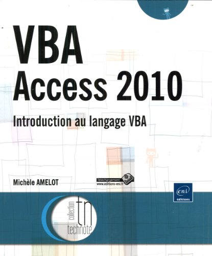 9782746065147: VBA Access 2010 - Introduction au langage VBA