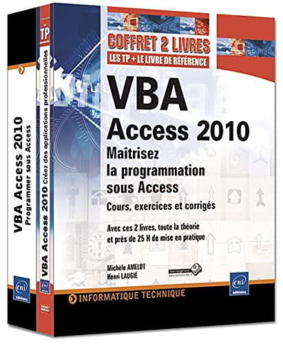 9782746067257: VBA Access 2010 : Maîtrisez la programmation sous Acess : Cours, exercices et corrigés, Pack 2 volumes