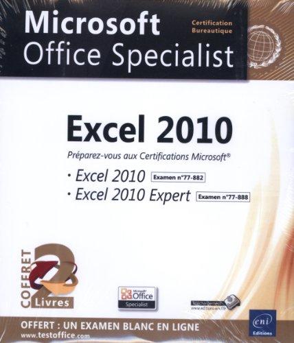 9782746077355: Excel 2010 - Coffret de 2 livres - Pr�parez-vous � la Certification Microsoft� Excel 2010 (77-882) et Excel 2010 Expert (77-888)