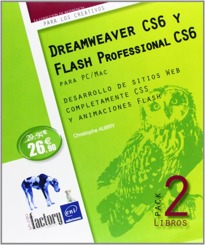 9782746080379: PACK DREAMWEAVER Y FLASH PROFESSIONAL CS6