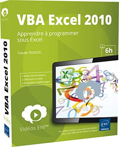9782746082649: Vidéo de formation VBA Excel 2010 - Apprendre à programmer sous Excel