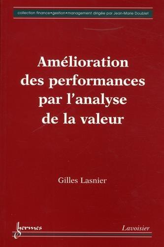 Amelioration des performances par l'analyse de la valeur: G. Lasnier