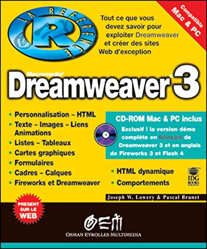 Dreamweaver 3 (reference) (French Edition): Joseph-W Lowery