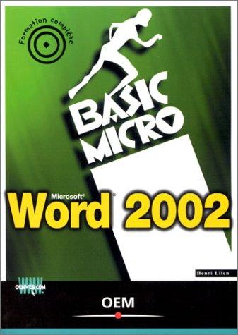 9782746403963: Word 2002