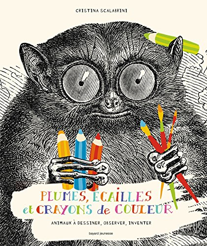 9782747048453: Plumes, écailles et crayons de couleur : Animaux à dessiner, observer, inventer
